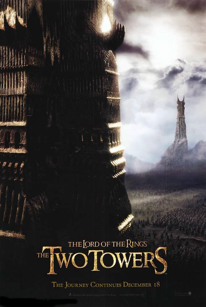 "poster for ""Lord of the Rings: The Two Towers, The"" by Peter Jackson (2002)"