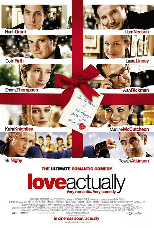 "poster for ""Love Actually"" by Richard Curtis (2003)"