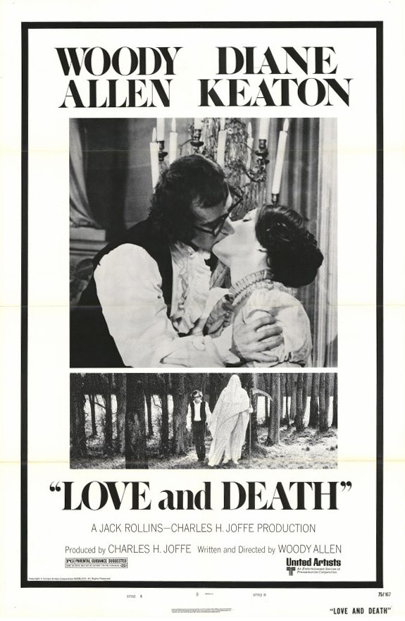 "poster for ""Love And Death"" by Woody Allen (1975)"