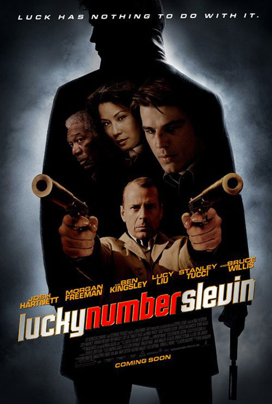 "poster for ""Lucky Number Slevin"" by Paul McGuiguan (2006)"