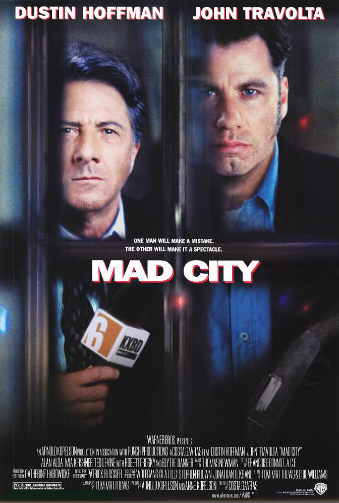 "poster for ""Mad City"" by Costa-Gavras (1997)"