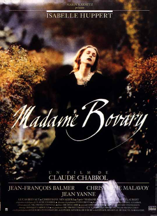 "poster for ""Madame Bovary"" by Claude Chabrol(1991)"