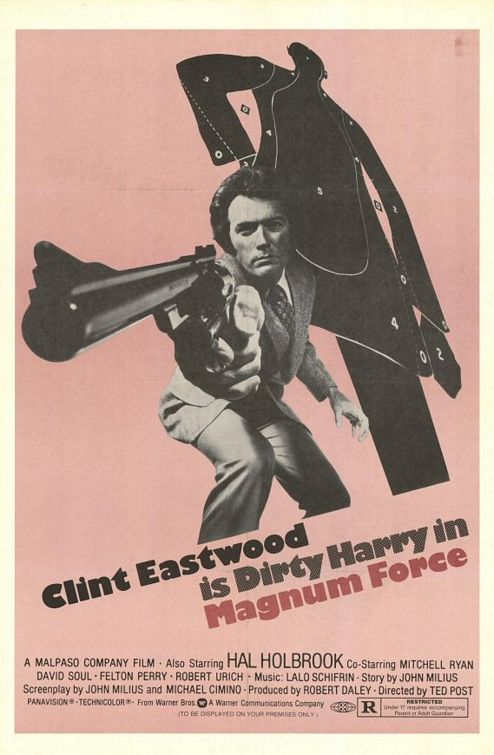 "poster for ""Magnum Force"" by Ted Post (1973)"