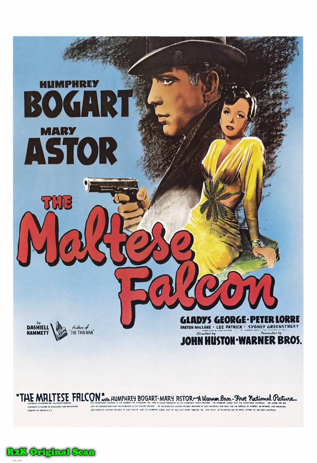 "poster for ""Maltese falcon, The"" by John Huston (1941)"