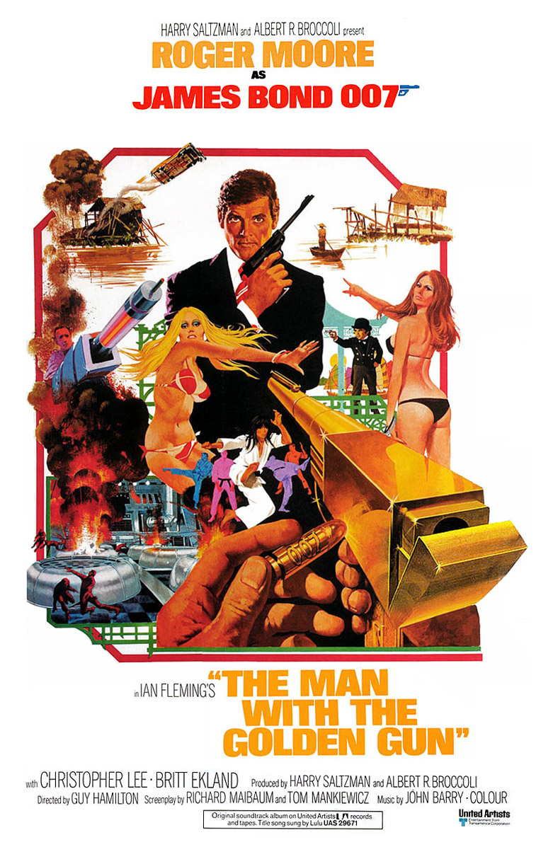 "poster for ""The Man With the Golden Gun"" by Guy Hamilton(1974)"