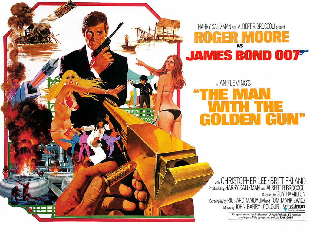 "poster for ""The Man With the Golden Gun"""