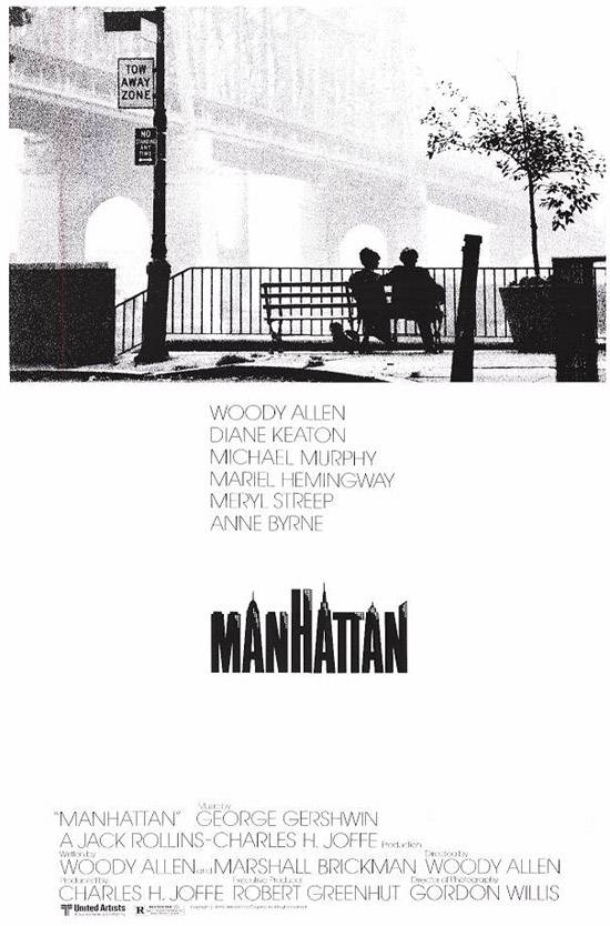 "poster for ""Manhattan"" by Woody Allen(1979)"