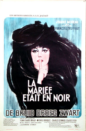 "poster for ""Mari�e �tait en noir, La  (The Bride Wore Black)&quot"
