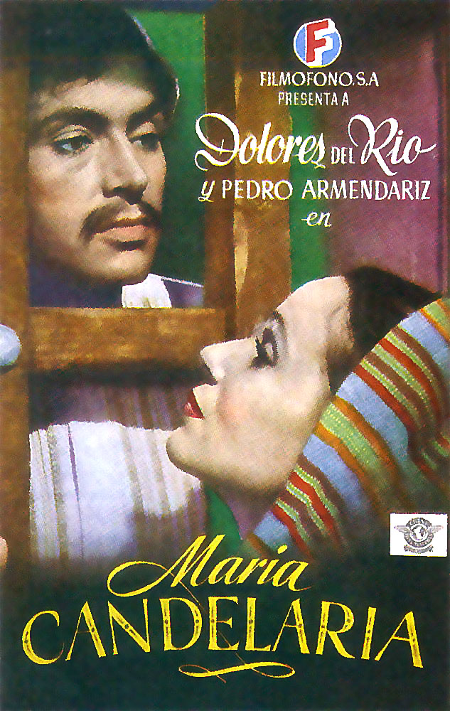 "poster for ""Maria Candelaria"" by Emilio Fernandez (1944)"