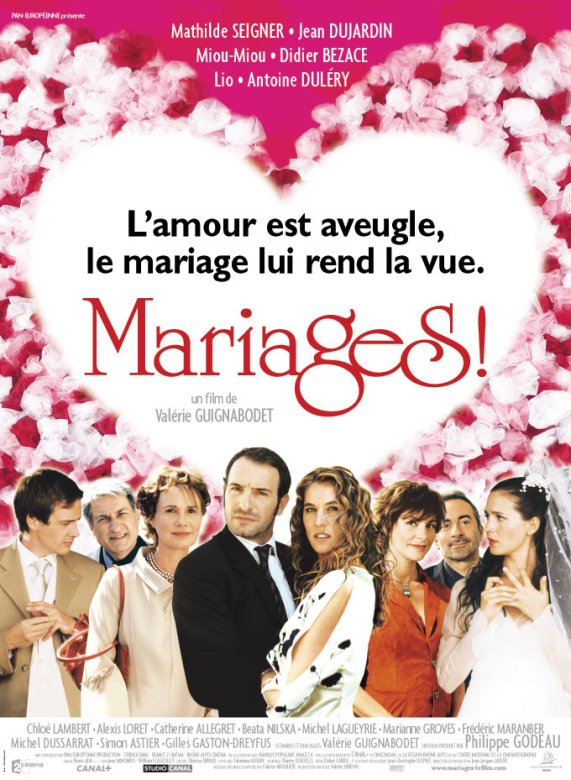 "poster for ""Mariages !"" by Val�rie Guignabodet (2004)"