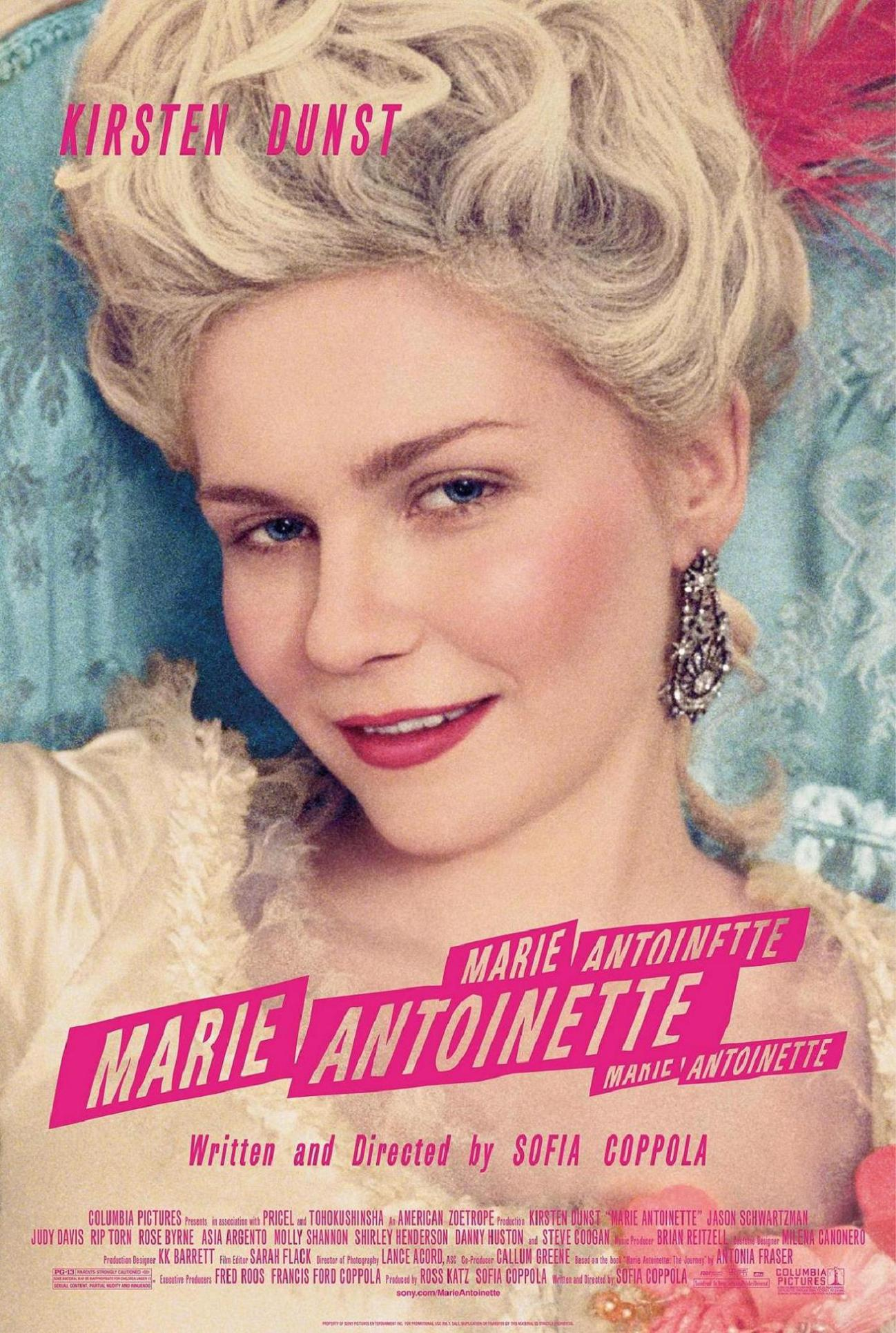 "poster for ""Marie Antoinette"" by Sofia Coppola(2006)"