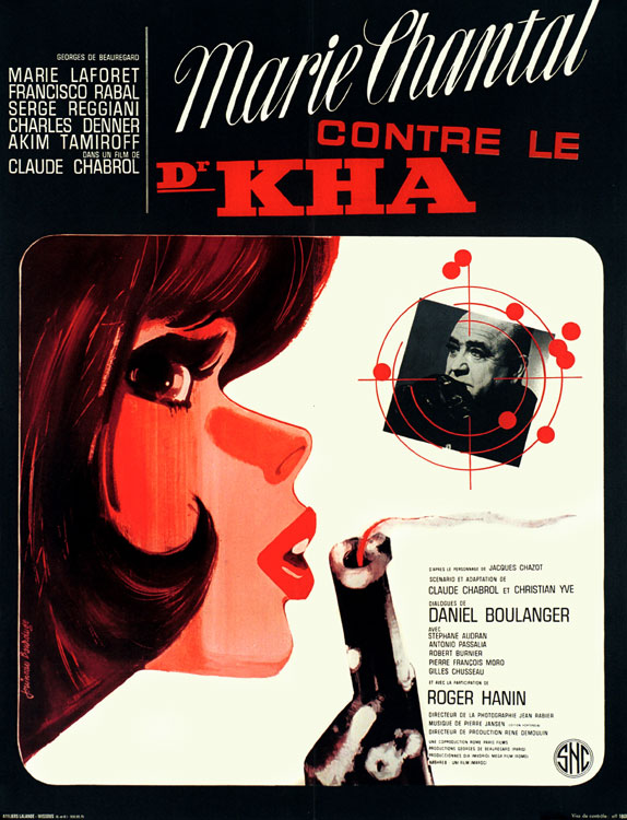 "poster for ""Marie-Chantal Contre Dr Kha"" by Claude Chabrol(1965)"
