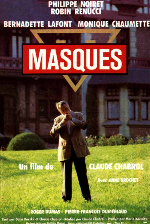 "poster for ""Masques"" by Claude Chabrol(1987)"