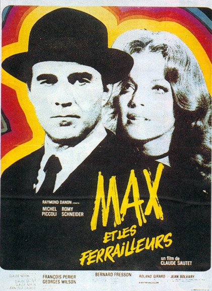 "poster for ""Max et les Ferrailleurs"" by Claude Sautet(1970)"