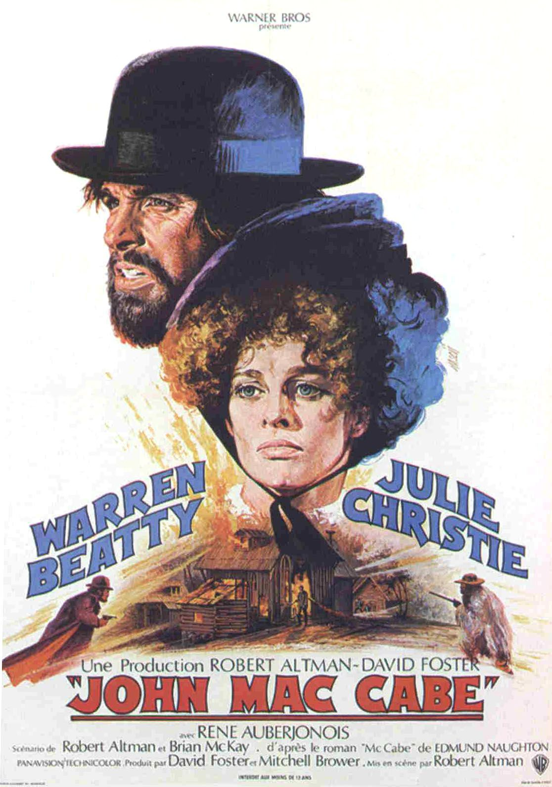 "poster for ""McCabe & Mrs. Miller"" by Robert Altman(1971)"
