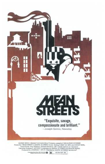 "poster for ""Mean Streets"" by Martin Scorsese (1973)"