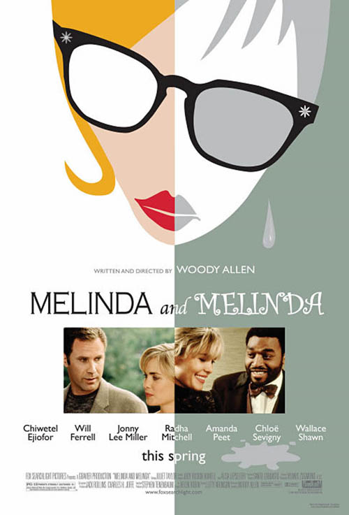 "poster for ""Melinda and Melinda"" by Woody Allen (2004)"