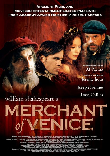 "poster for ""Merchant Of Venice, The&quot"