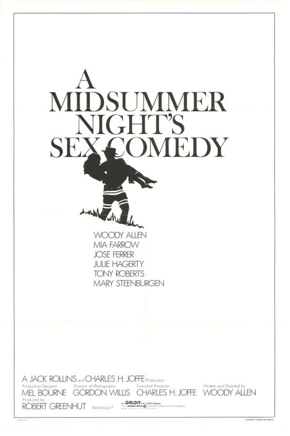 "poster for ""Midsummer Night's Sex Comedy, A"" by Woody Allen(1982)"