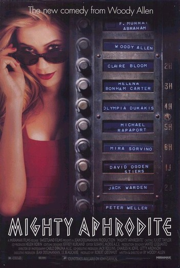 "poster for ""Mighty Aphrodite"" by Woody Allen(1995)"