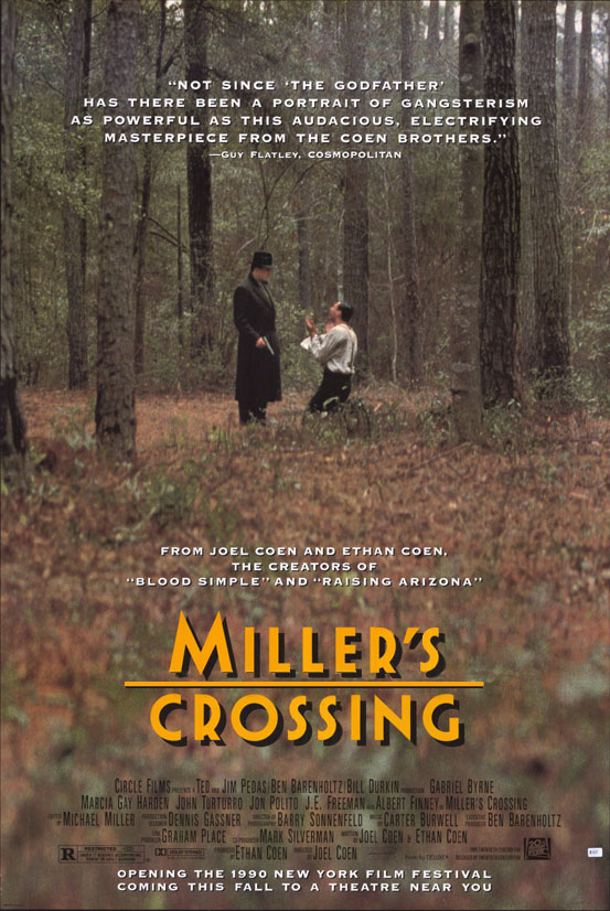 "poster for ""Miller's Crossing"" by Joel Coen 