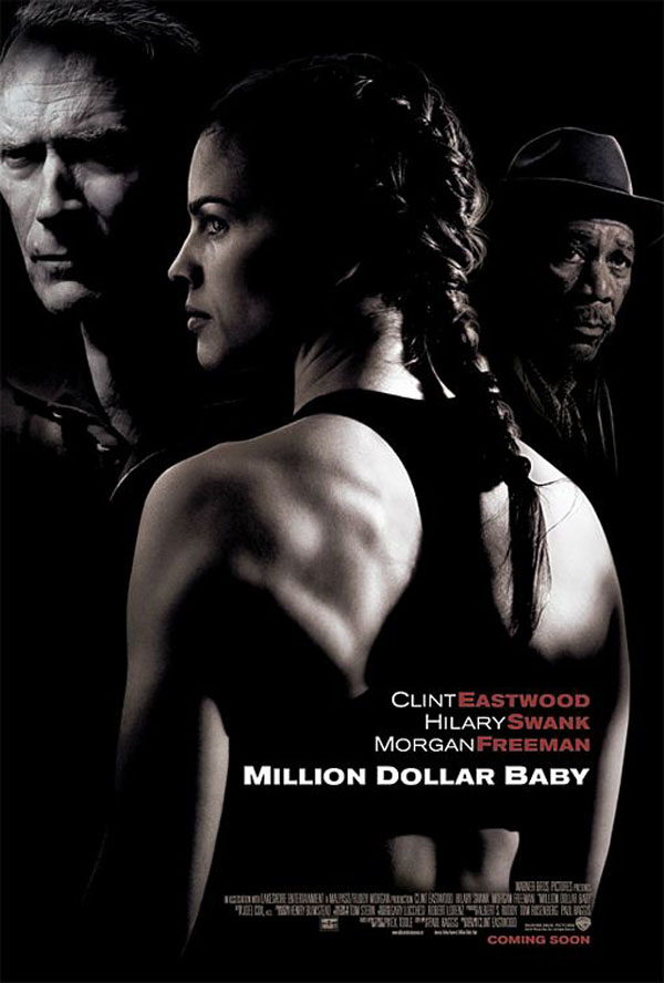 "poster for ""Million Dollar Baby"" by Clint Eastwood (2004)"