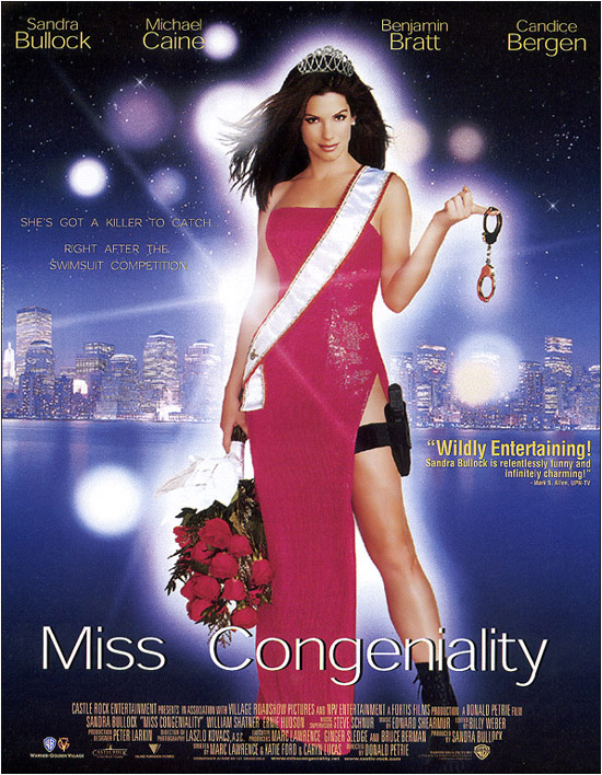 "poster for ""Miss Congeniality"" by Donald Petrie(2000)"