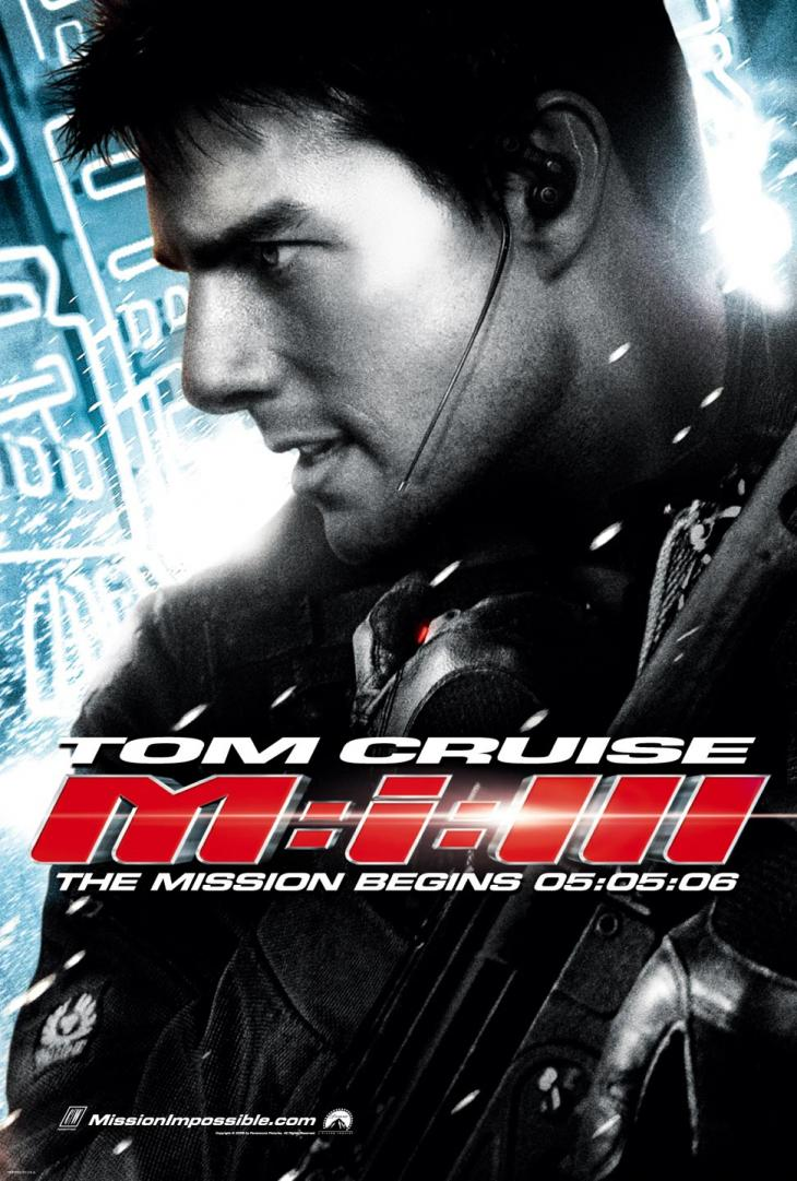 "poster for ""Mission Impossible III"" by J.J. Abrams (2006)"