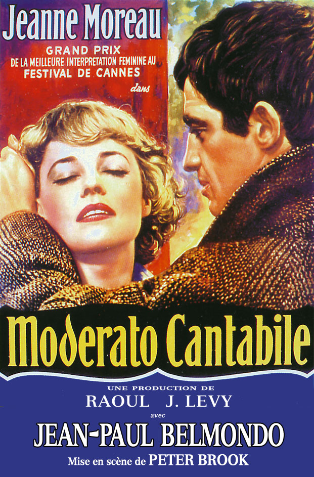 "poster for ""Moderato Cantabile"" by Peter Brook(1960)"