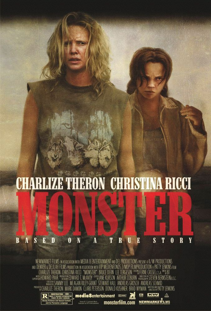 "poster for ""Monster"" by Patty Jenkins(2003)"