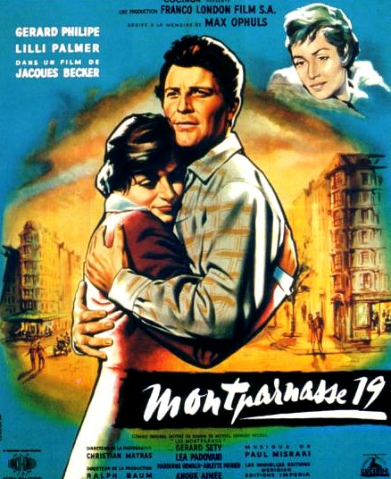 "poster for ""Montparnasse 19"" by Jacques Becker(1955)"