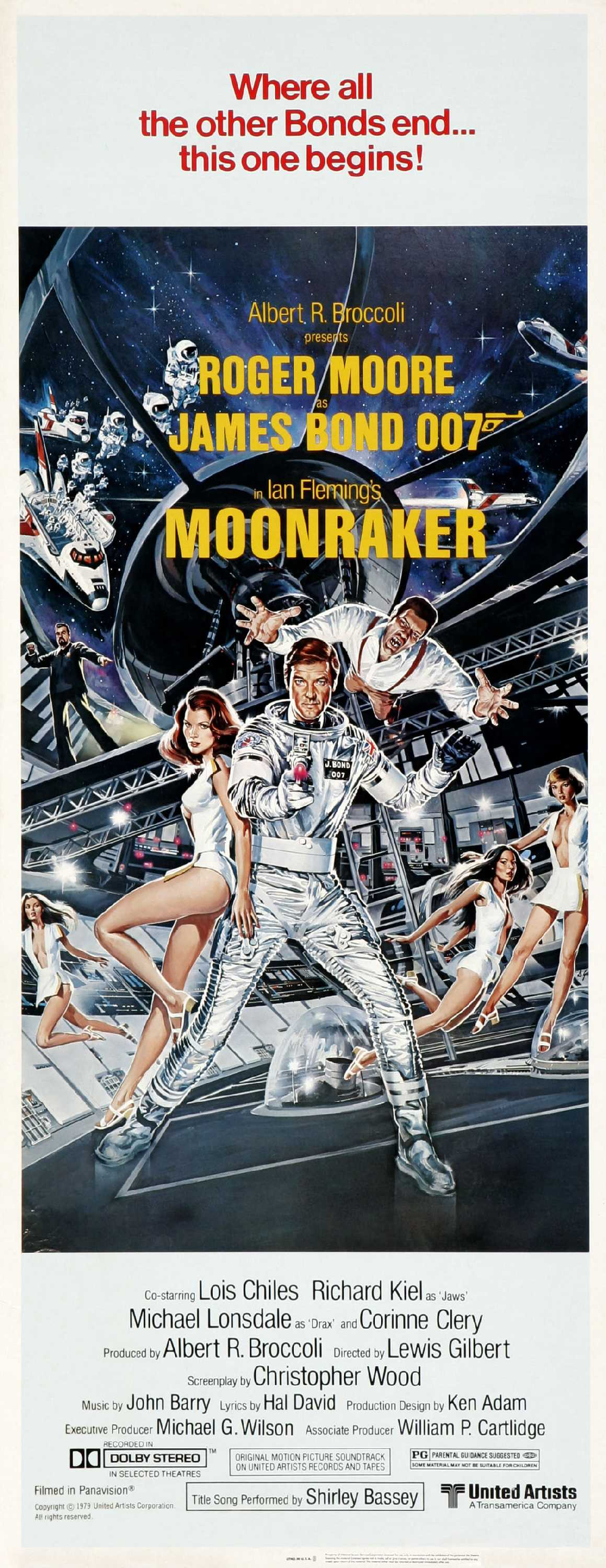 "poster for ""Moonraker"" by Lewis Gilbert(1979)"