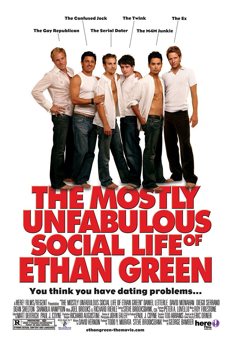 "poster for ""The Mostly Unfabulous Social Life of Ethan Green"" by George Bamber(2005)"