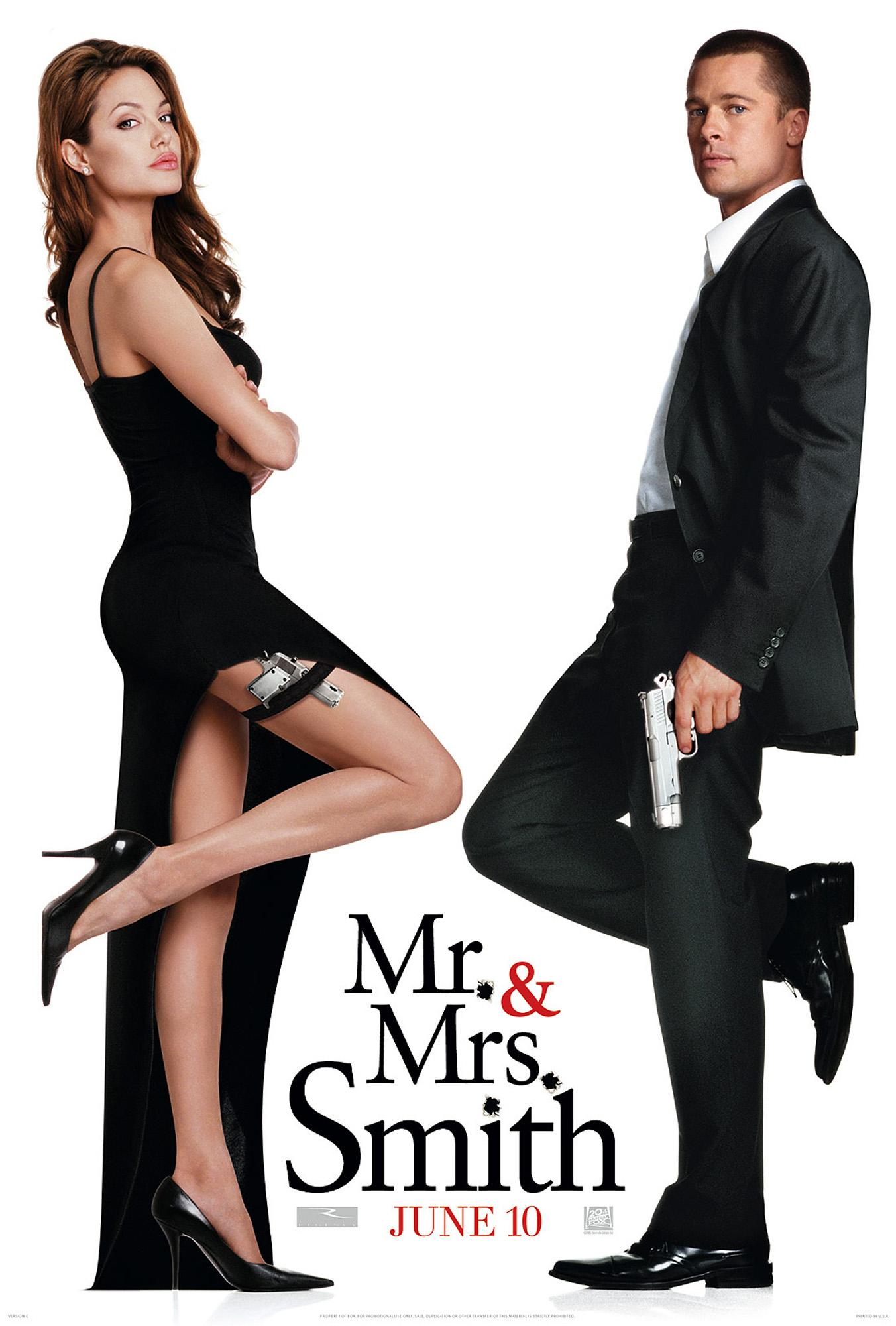 "poster for ""Mr & Mrs Smith"" by Doug Liman(2005)"