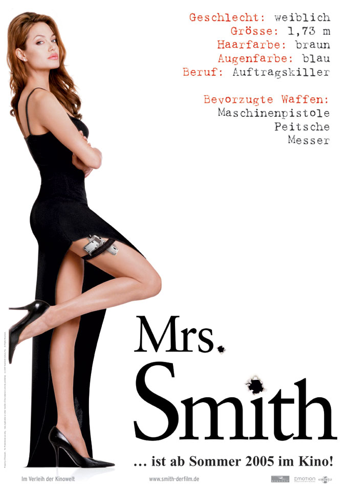 "poster for ""Mr & Mrs Smith&quot"