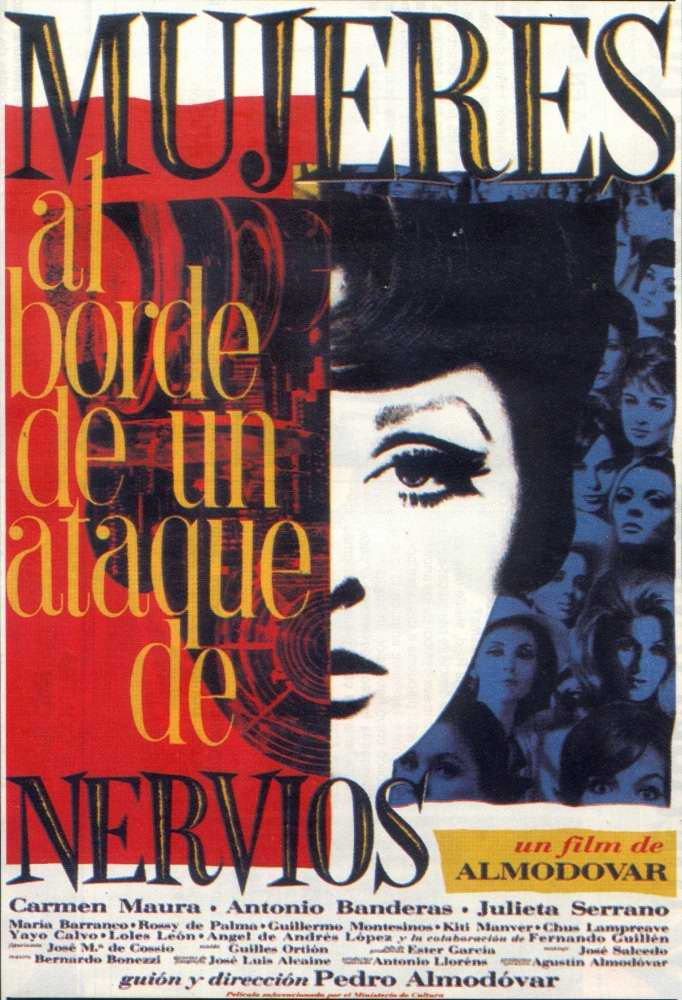 "poster for ""Mujeres al Borde de un Ataque de Nervios (Women on the Verge of a Nervous Breakdown)&quot"