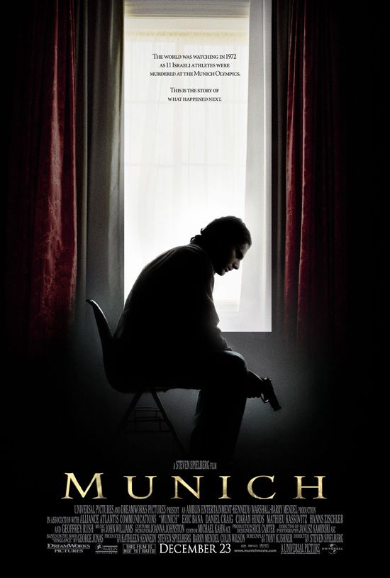 "poster for ""Munich"" by Steven Spielberg(2005)"