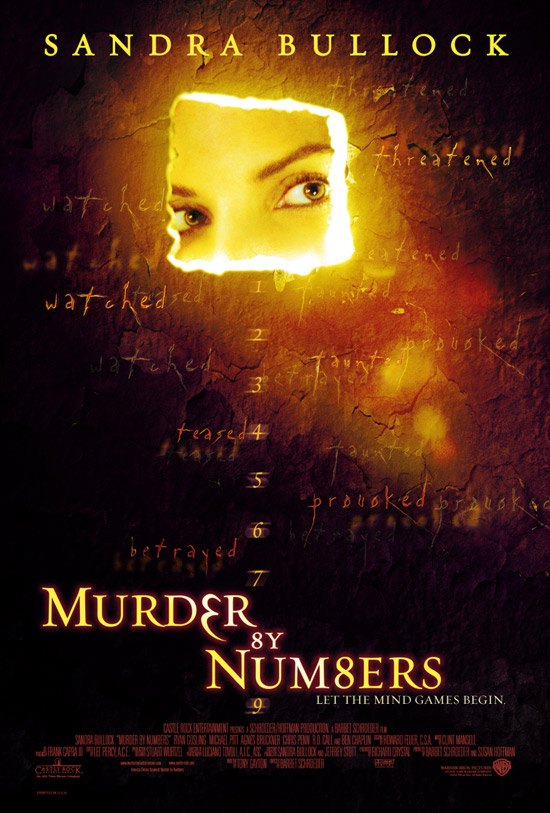 "poster for ""Murder By Numbers"" by Barbet Schroeder(2002)"