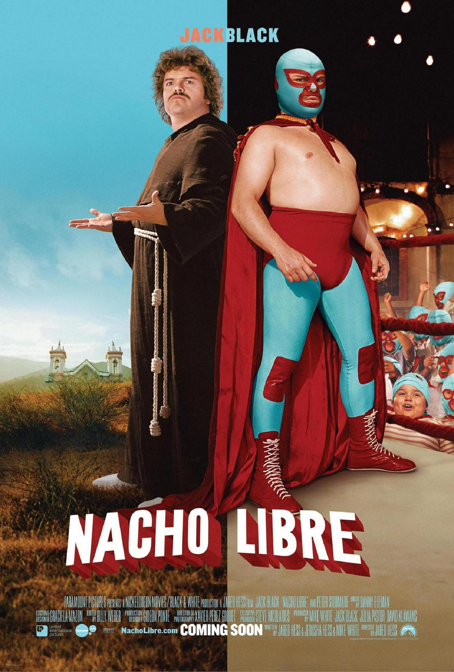 "poster for ""Nacho Libre"" by Jared Hess(2006)"
