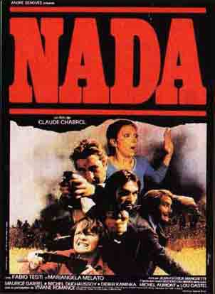 "poster for ""Nada"" by Claude Chabrol (1974)"