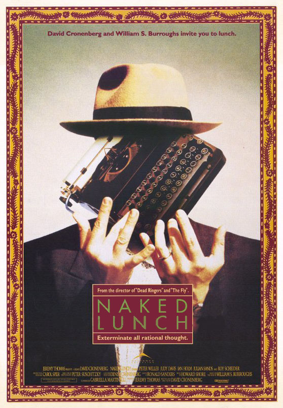 "poster for ""Naked Lunch"" by David Cronenberg (1991)"