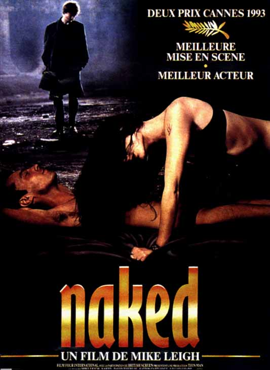"poster for ""Naked"" by Mike Leigh (1993)"