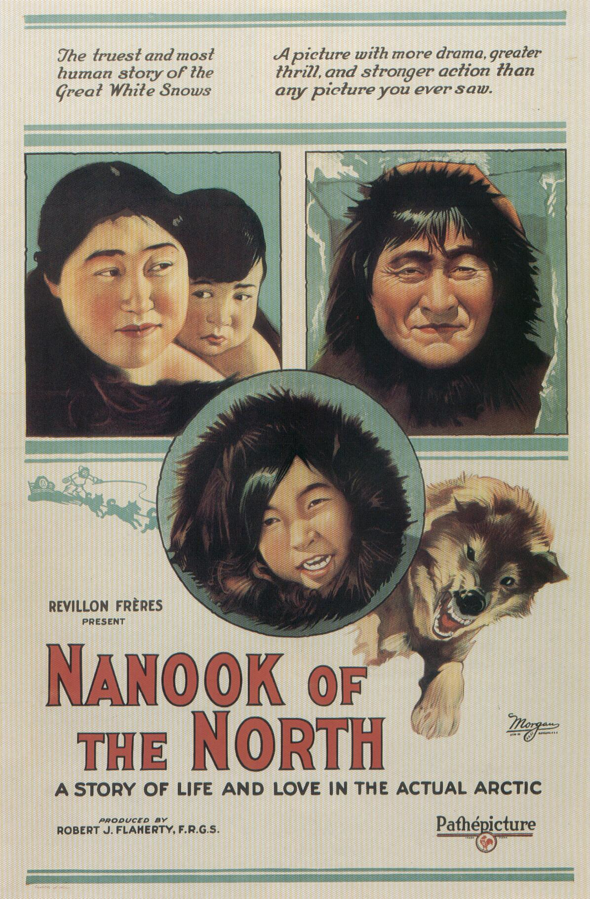 "poster for ""Nanook Of The North"" by Robert J. Flaherty (1922)"