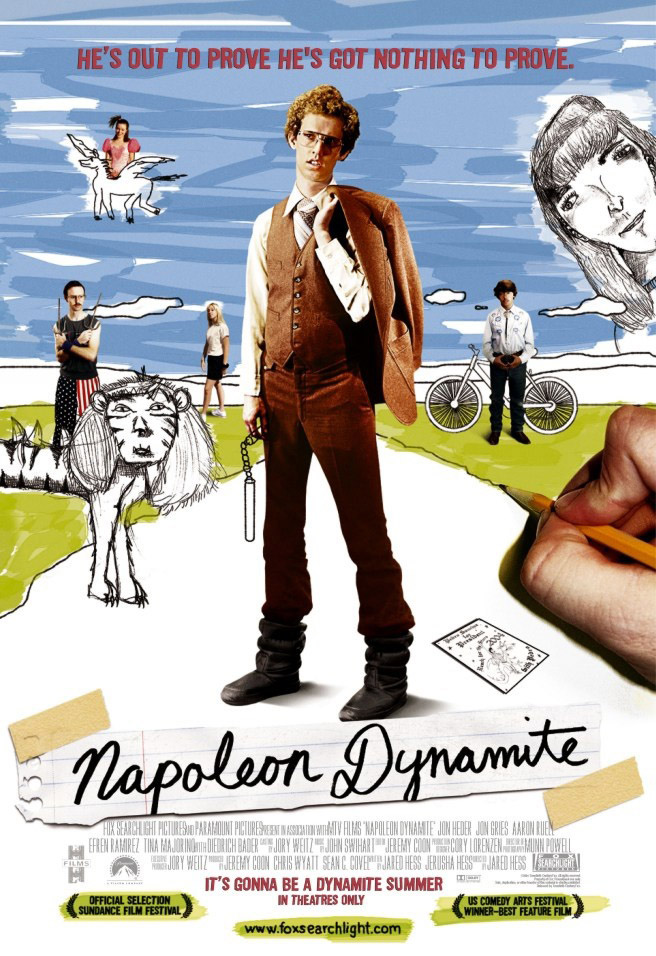 "poster for ""Napoleon Dynamite"" by Jared Hess(2004)"
