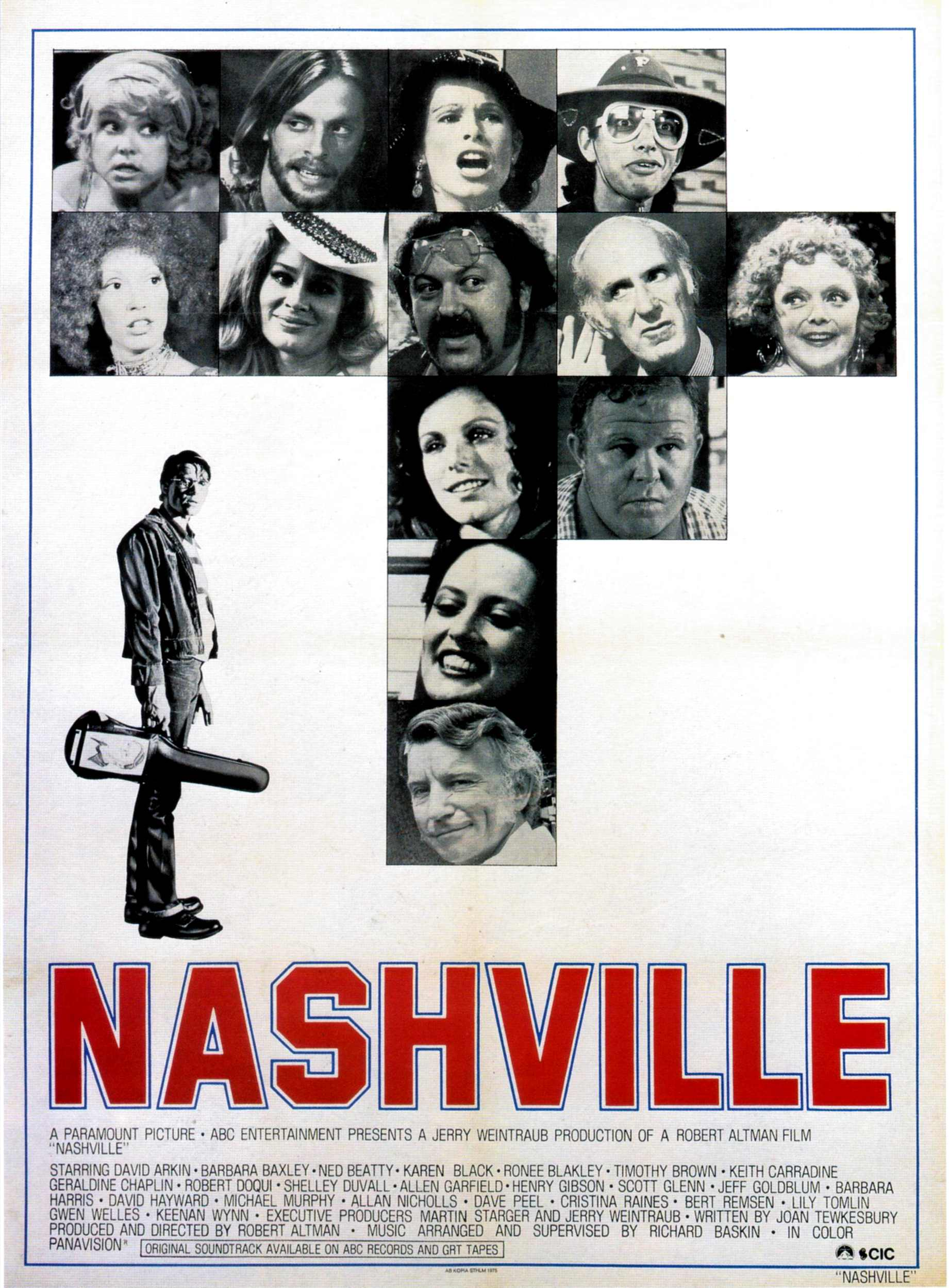 "poster for ""Nashville"" by Robert Altman(1975)"