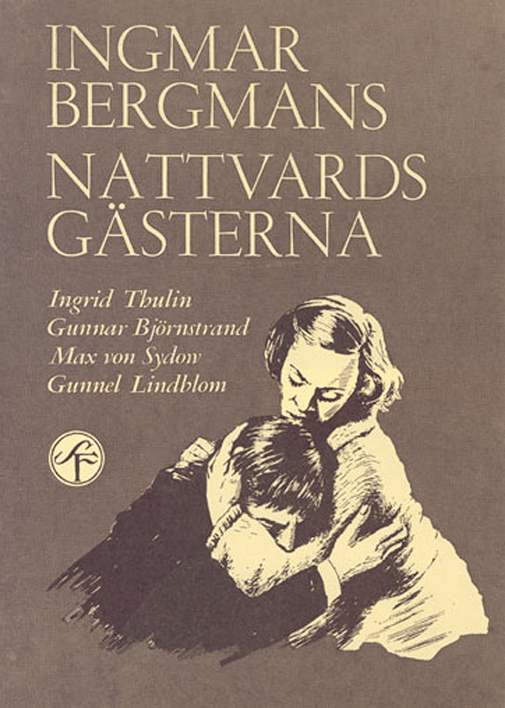 "poster for ""Nattvardsg�sterna (Winter Light)"" by Ingmar Bergman (1963)"