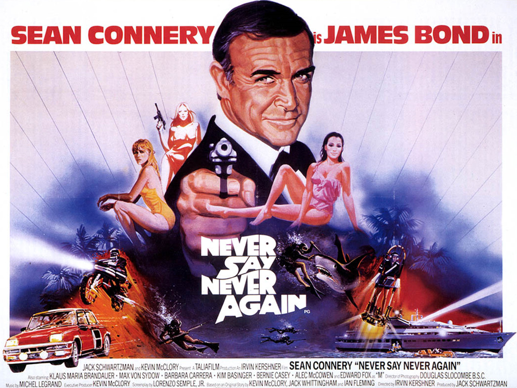 "poster for ""Never Say Never Again"" by Irvin Kershner (1983)"
