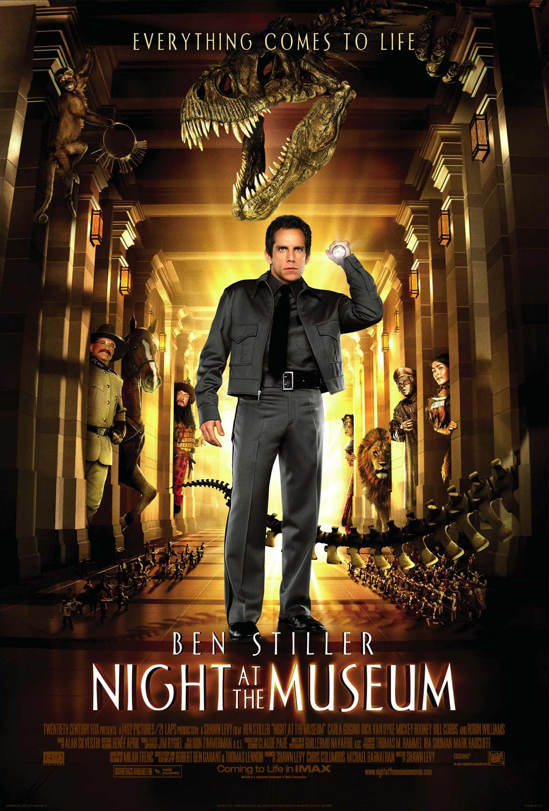 "poster for ""Night At the Museum"" by Shawn Levy(2006)"