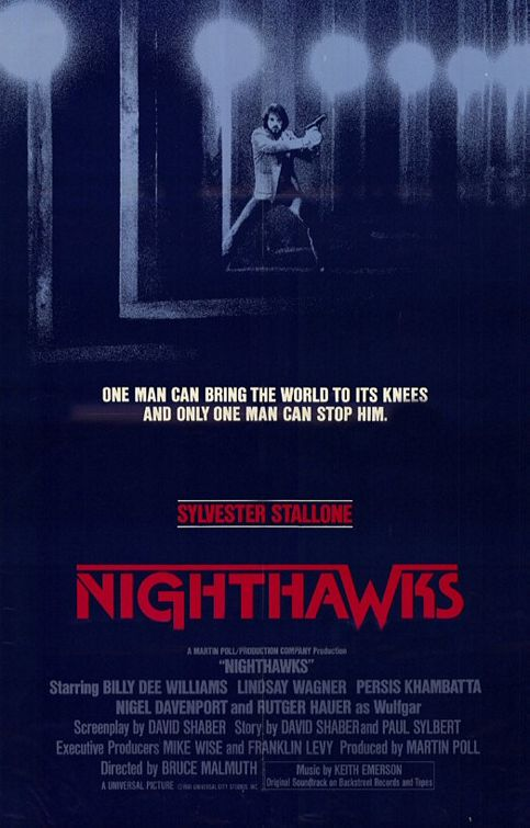 "poster for ""Nighthawks"" by Bruce Malmuth (1981)"