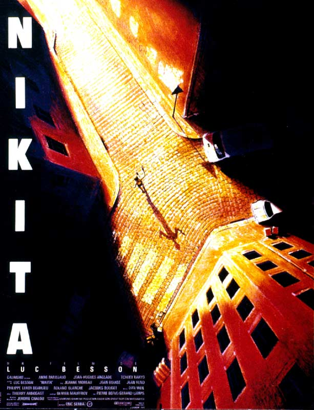 "poster for ""Nikita"" by Luc Besson(1990)"